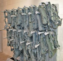 Parachute Holders On Expandable Weapon Rack