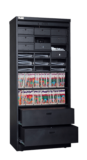 Attrayant 83 Inch High Secure Media Storage Cabinet Open